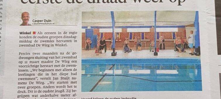 We staan in de krant !